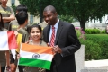 Rider from India with Illinois House Representative La Shawn K. Ford of the 8th District!